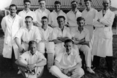 Back: Bert Douglas, Peter Baucklam, ?, Jack Cox, Ron Gascoigne, Frank Gascoigne. Middle: ?, George Hughes, ? Glyn Cox. Front ?, Bill Gascoigne.