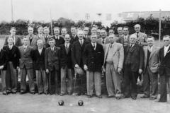 1953 l - r, back: Walter Moulder, Willie Courtnell, ?, Arthur Perkins, Les Newman, ?, ?, Ken Castle, Bert Cross?, ?, ?, ?, Gilbert Newman, Charlie Gibbons, ?.