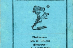 1954-55 Middle Barton Football Club - Fixture card.