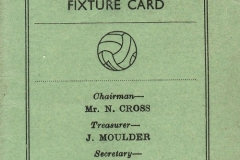 1955-56 Middle Barton Football Club - Fixture card.