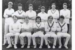 1988 Cricket Team. Back Row: Steve Cox, Steve Cook, Steve Harris, James Mitchelmore, Nigel Gillingham, Mark Robey.