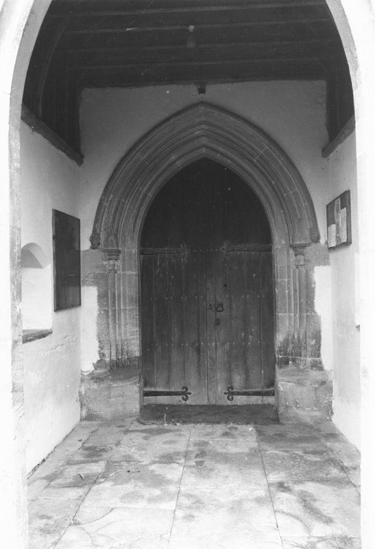 September 1988 Doorway and porch (JM).