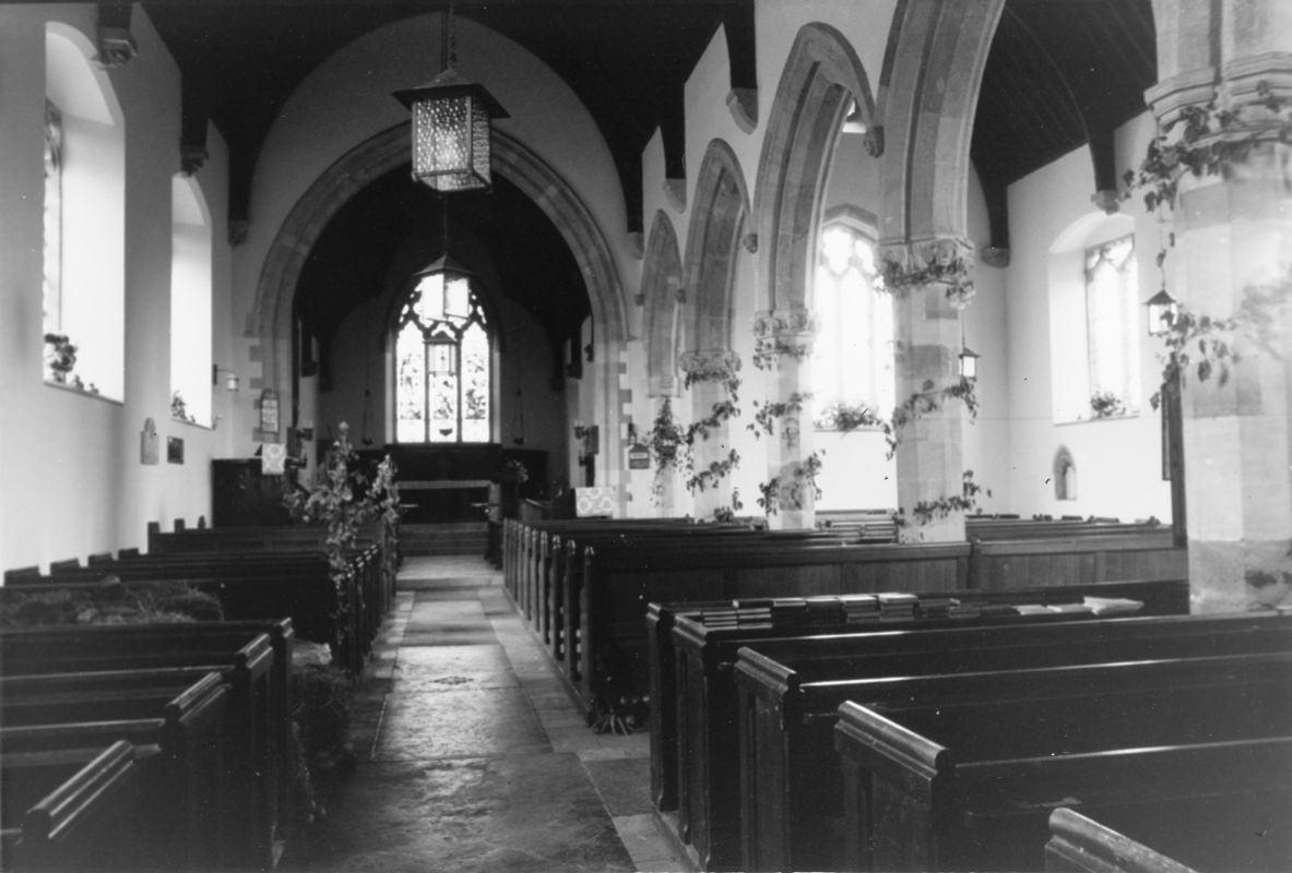 September 1988 Interior, decorated for harvest festival (JM).