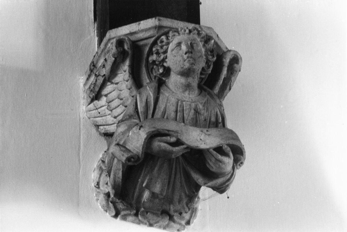 September 1988 Carvings in chancel (JM).