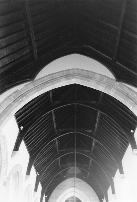 September 1988 The roof of the south aisle (JM).