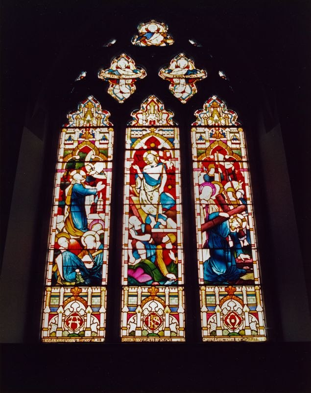 September 1988 East window of the chancel (JM).