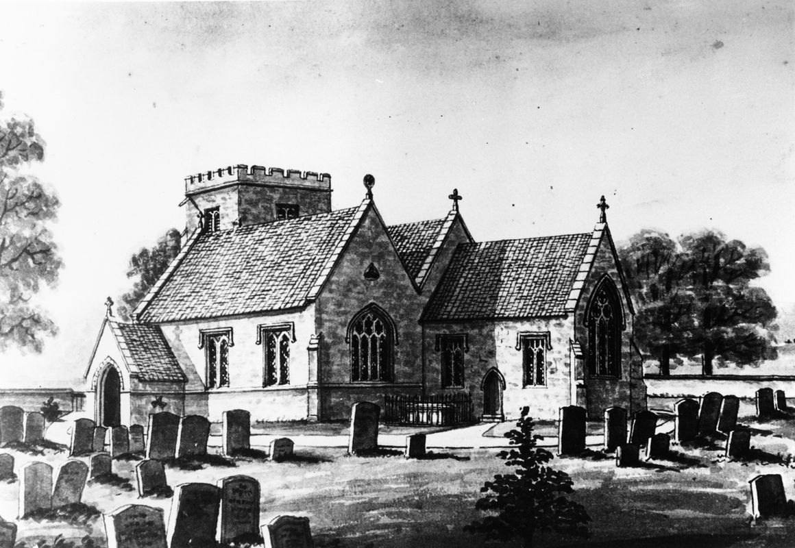 c. 1870 Drawing of Church.