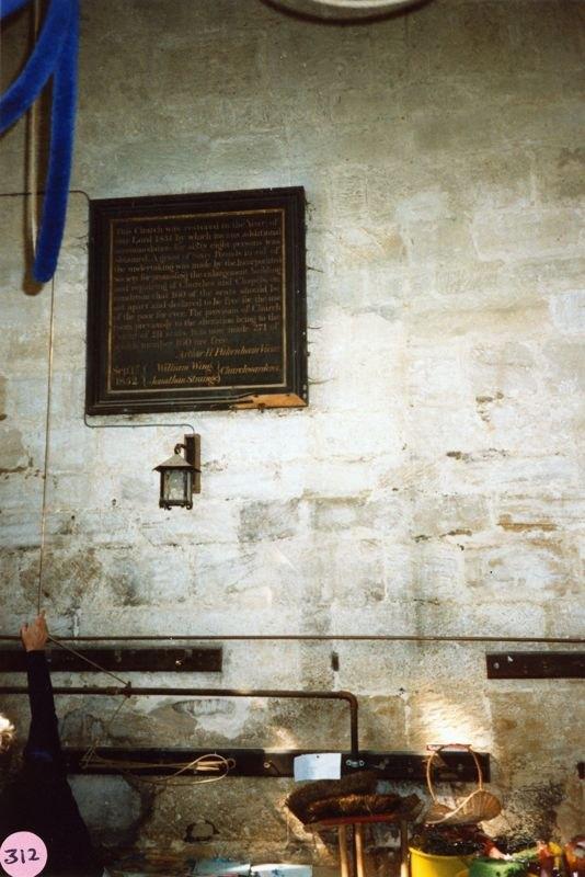 June 1988 Steeple Barton Church belfry.