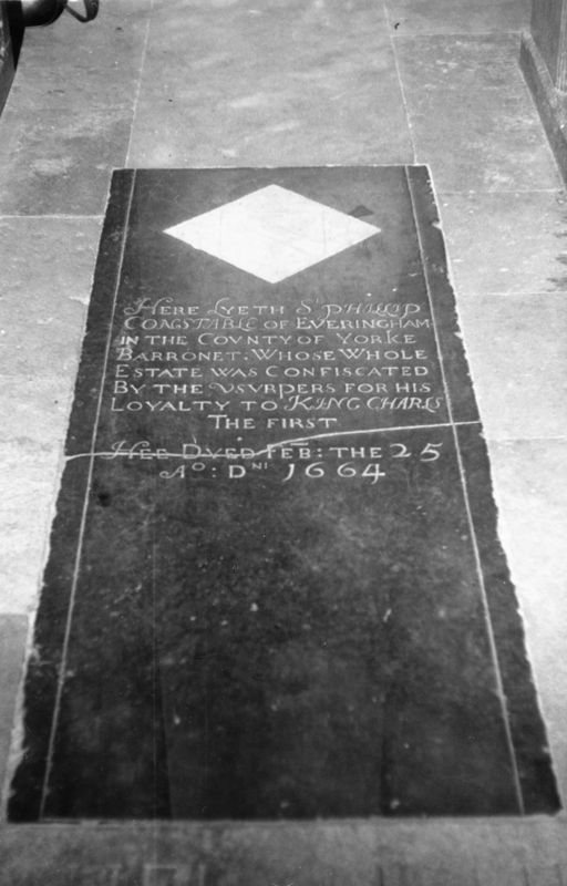 1664 memorial of Sir Phillip Constable.