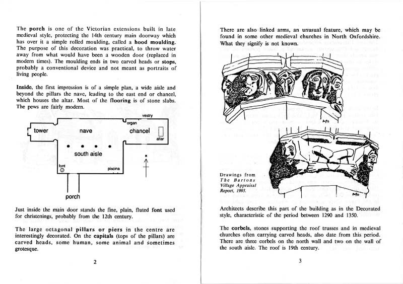 A Guide to the Parish Church of Steeple Barton - pages 2 and 3.