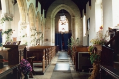 September 1988 Interior, decorated for harvest festival (JM).