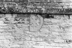September 1988 Dedication cross under west window (JM).