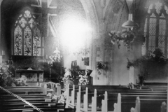 1924 Harvest Festival. Photo taken from picture hanging in the Church in 1987.