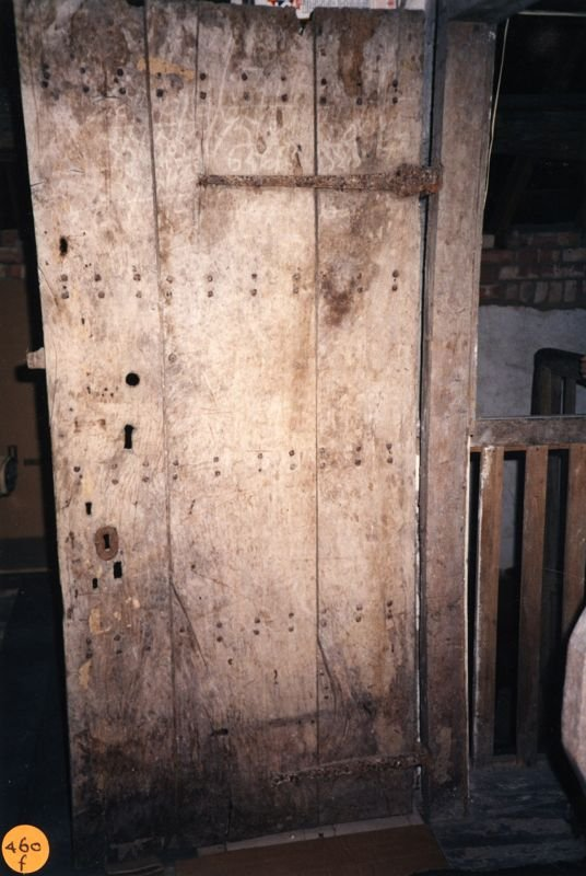 1990 Woodman's Cottage - Attic door.