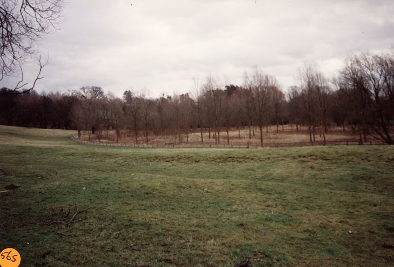 January 1993 Steeple Barton panorama: view of medieaval fishponds.
