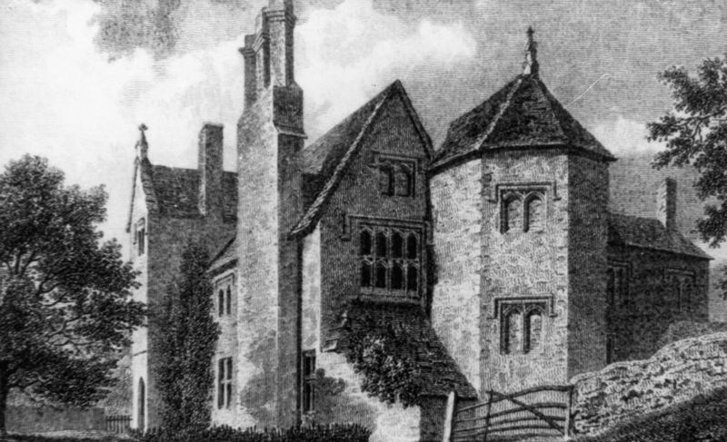 early 1800s - Sesswells Barton manor house, later Barton Abbey.