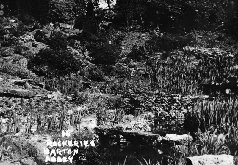 Barton Abbey rockeries.