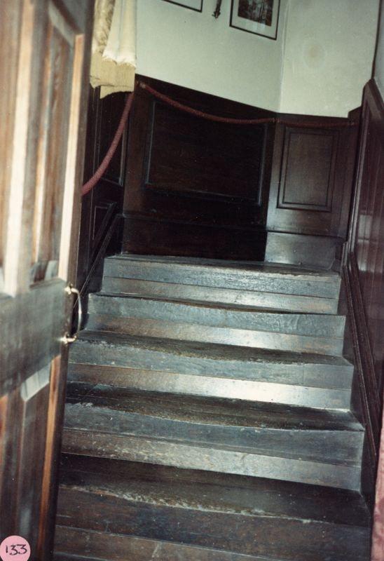 1986 Barton Abbey, old staircase.