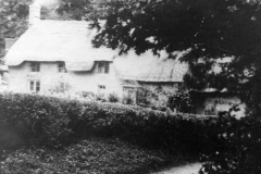 1920s Houses in Pack Lane (Barbers Lane). The house on the left was occupied by the Rainbow family.