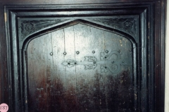 1986 Barton Abbey, door at the top of the old staircase.