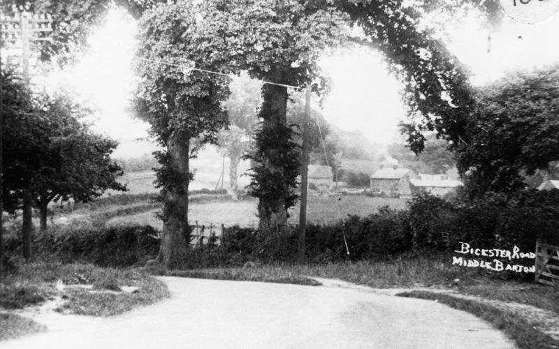c. 1920s 1930s Bicester road looking east towards the Turnpike.