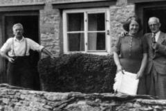 1940s Turnpike cottages - Mr Matthews and relative Miss Elsie Matthews.