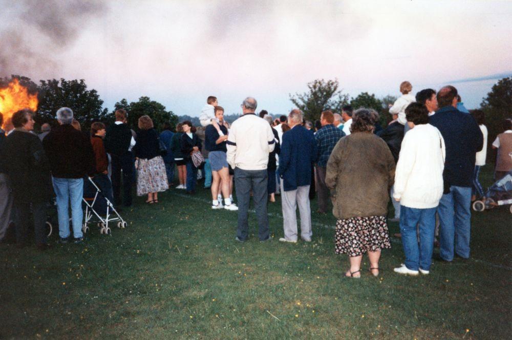 8 May V.E. Day Bonfire.