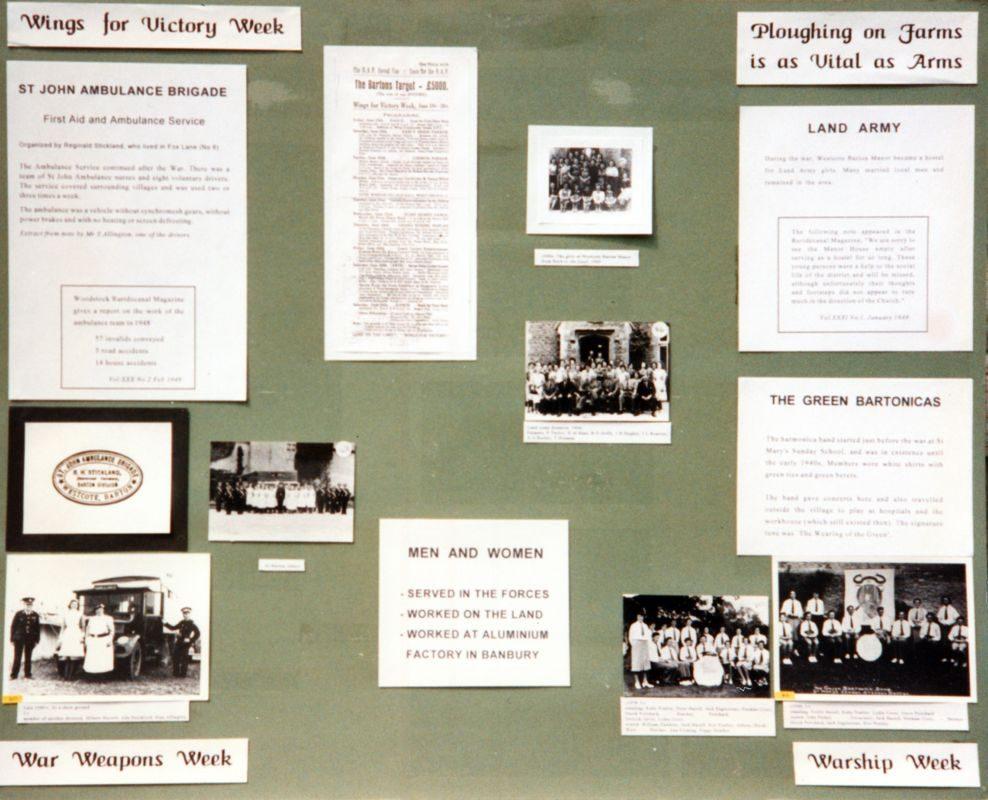 May 1995 Bartons History Group WW II display boards.