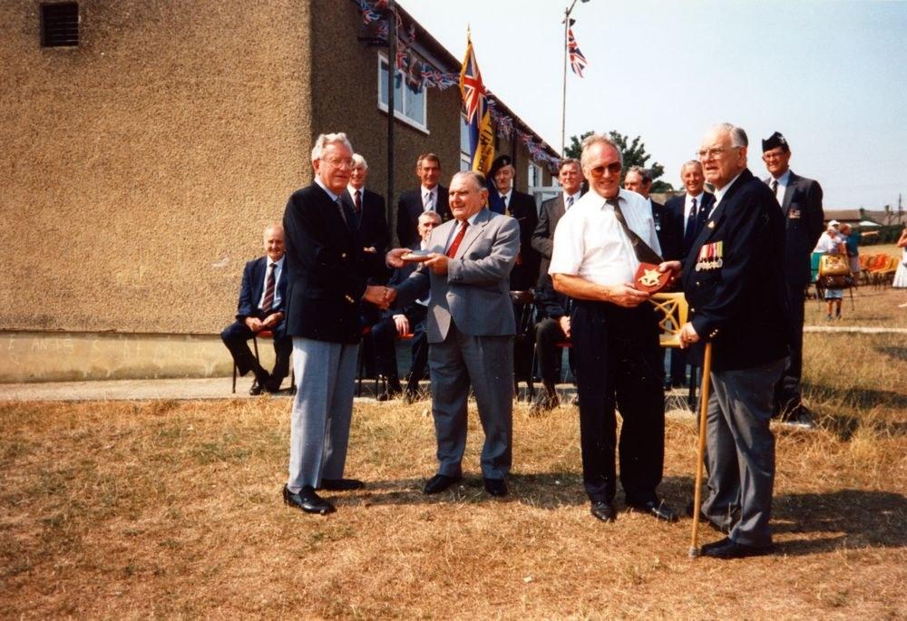 20 August 1995 V.J. Royal British Legion. Front left: Harry Imbert.
