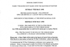 6-8 May 1995 Weekend events for the 50th anniversary of V. E. Day.