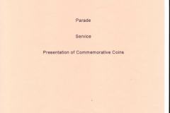 Sunday May 7th.  1995. Parade - Commemoration Service - Presentation of coins.