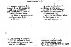 20 August 1995 V.J. Day Service Hymn sheet.