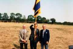 20 August 1995 V.J. Royal British Legion. Three brothers: Stanley, Horace and Nigel Wood.