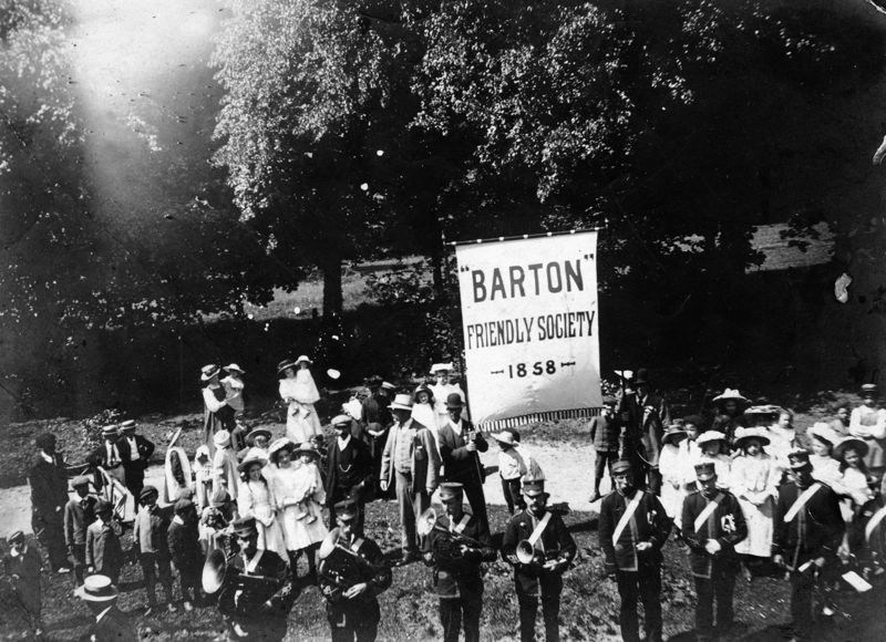 1909 Club Day: Barton Friendly Society. - founded 1858.