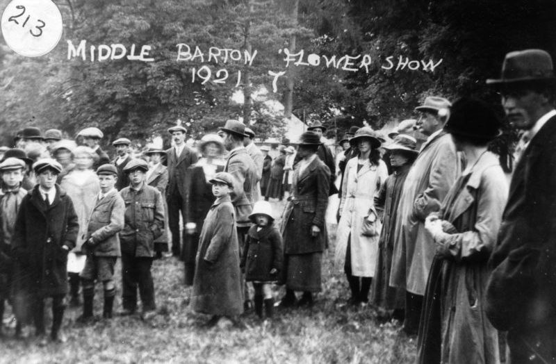 1921 Middle Barton Flower Show.