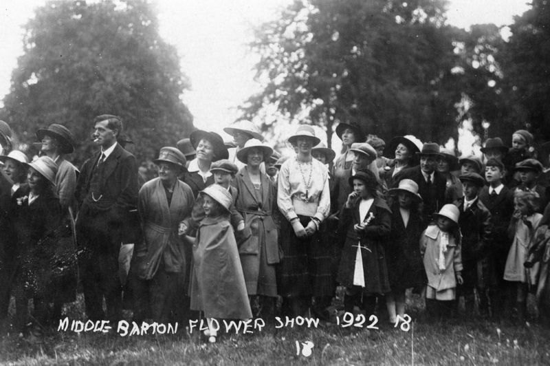 1922 Middle Barton Flower Show.