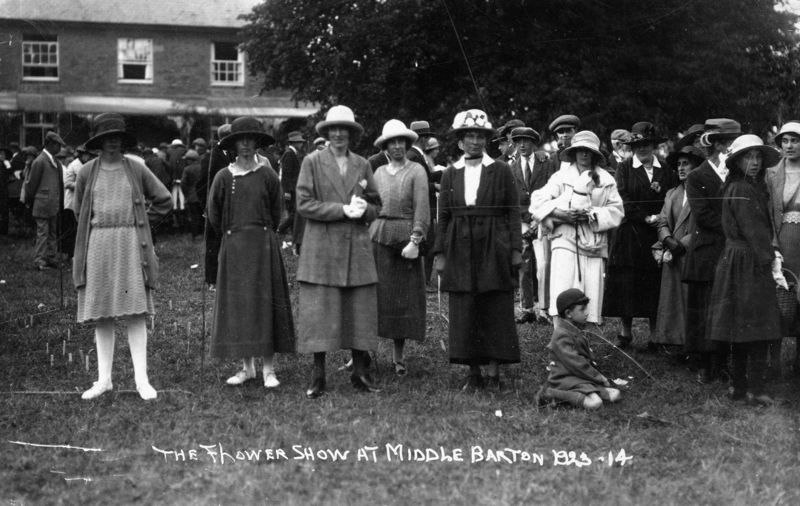 1923 Middle Barton Flower Show.