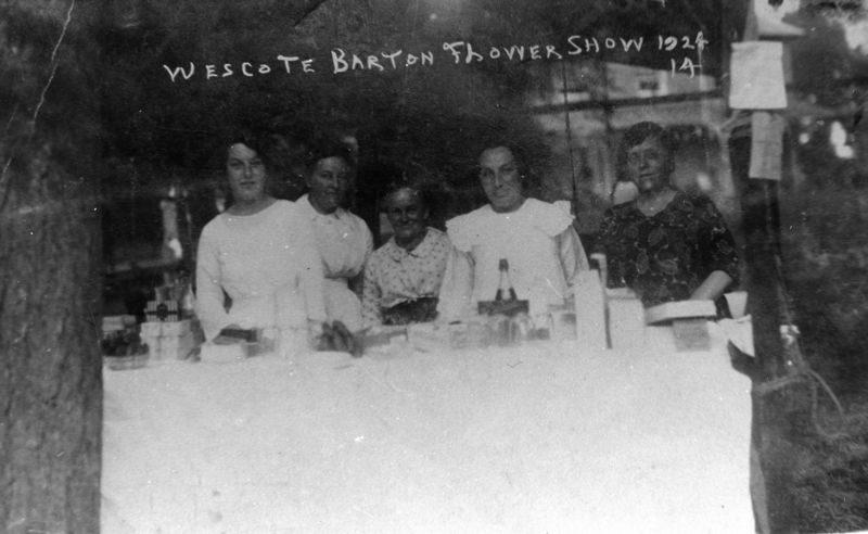 1924 Westcote Barton Flower Show.