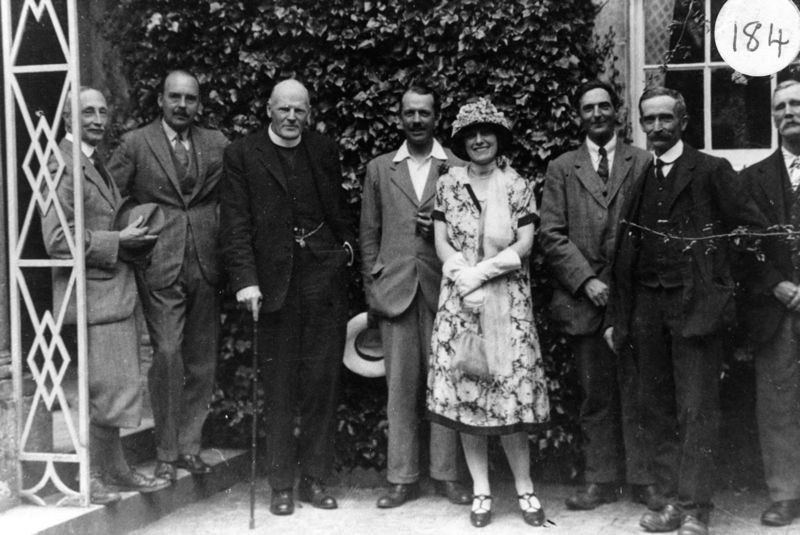 c. 1920 Barton Flower Show. Colonel Jarvis, Edmondson, Canon Carroll, Ronnie Riach, Mrs. Edmonson, George Stockford, Charles Marsh, James Canty.