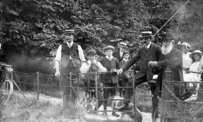 c. 1920s Believed to be taken at a Flower Show by the path from the main road to the field by the rectory. The rectory is now Westcote Barton lodge and the path is no longer there.