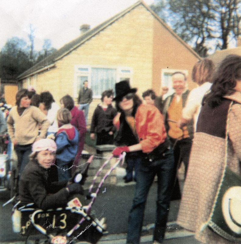 c. 1970 Youth Club pram race.