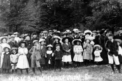 1909 Flower Show at the Rectory, Westcote Barton.