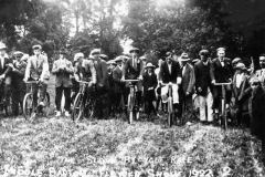 1922 Middle Barton Flower Show. Slow bicycle race.