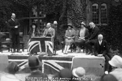 1927 Conservative fete at Barton Abbey. The opening ceremony.