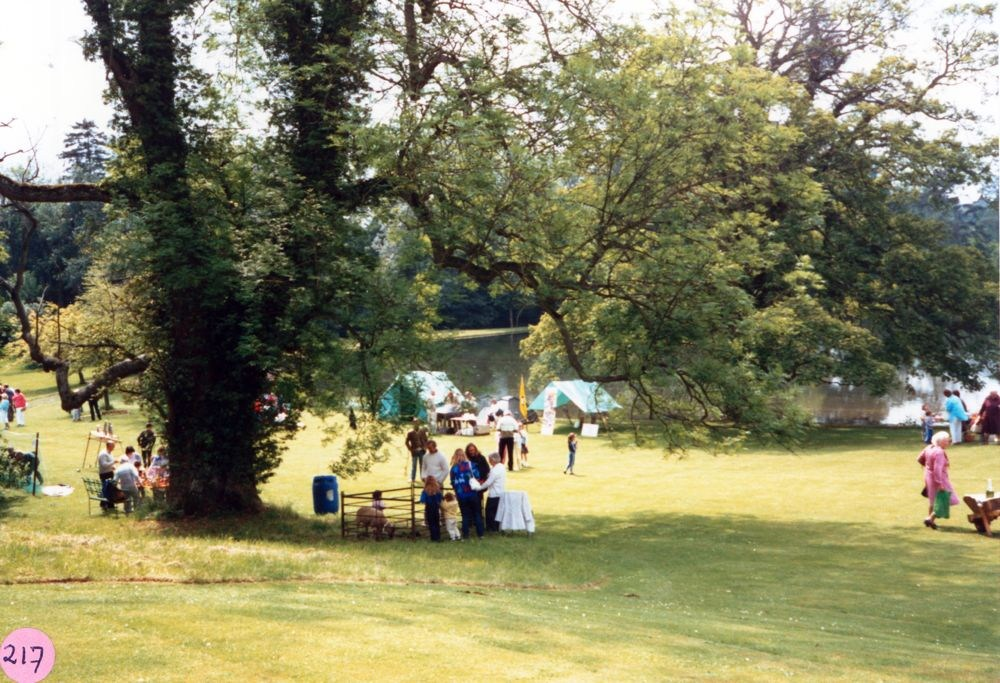 June 1987 Steeple Barton Church fete at Barton Abbey.