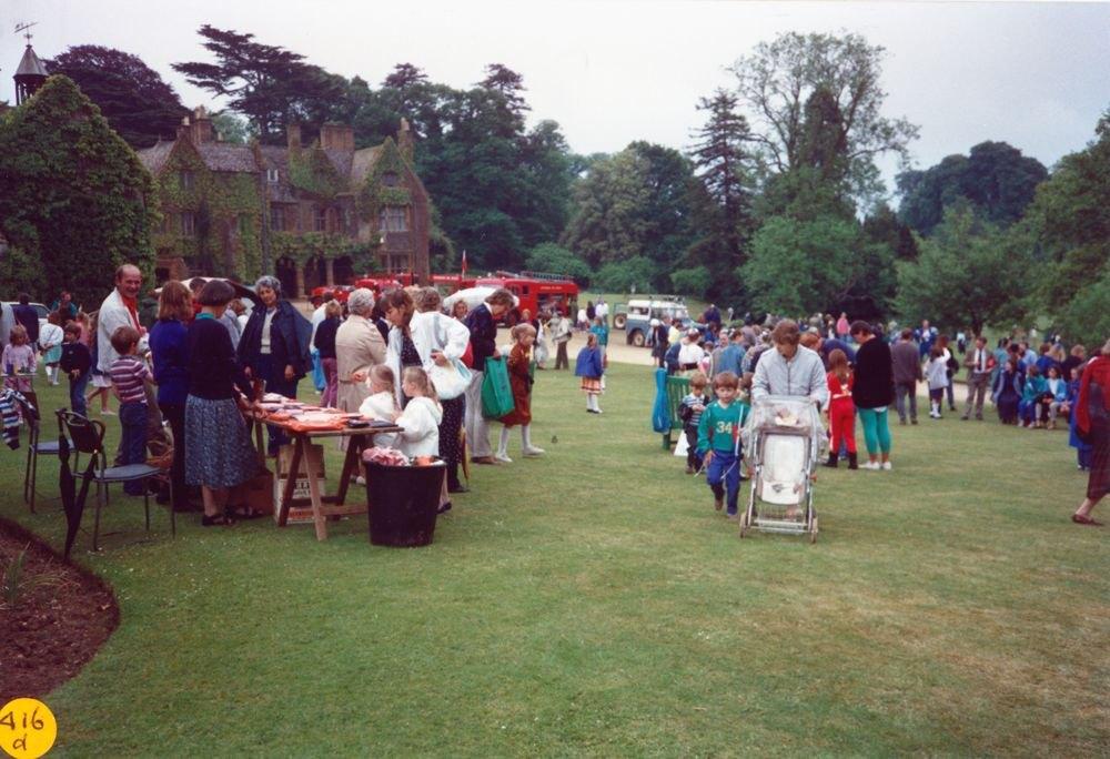 June 1989 Steeple Barton Church fete at Barton Abbey.