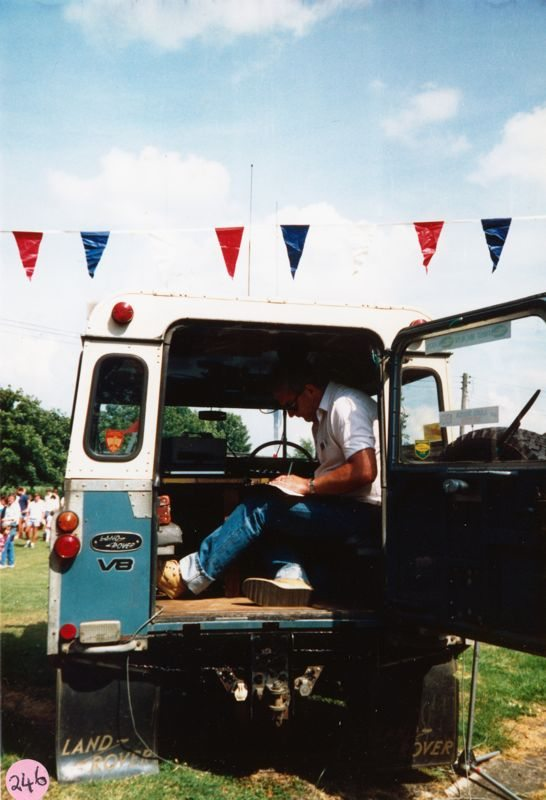 July 1987 Middle Barton School Fayre - Chris Gregory.