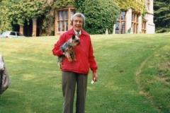 June 1987 Steeple Barton Church fete at Barton Abbey. Mrs. Joan Fleming.