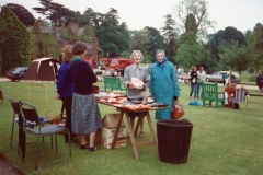 June 1989 Steeple Barton Church fete at Barton Abbey. Mrs Anne Brown, Miss Harriet Evans, Mrs Mary West.