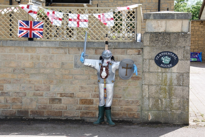 2012 June 2-5 The Queen's Diamond Jubilee celebrations  - Middle Barton Scarecrow competition.